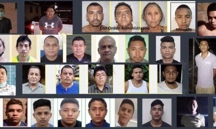 Policía captura a un centenar de pandilleros ligados a homicidios y extorsión a nivel nacional